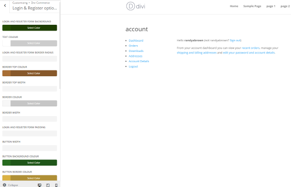 divi-commerce-divi-customizer-login-and-register-options