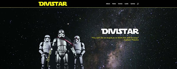 Get Your Free Star Wars Rogue One Inspired Divi Layout Pack – DiviStar