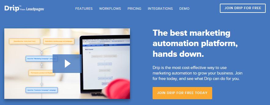 The Drip homepage