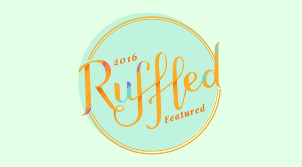 A Ruffled badge for those featured on the site in 2016