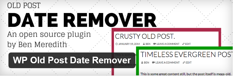 The WP Old Post Date Remover title from WordPress.org