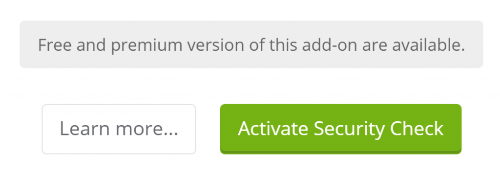 The option to activate security checks.