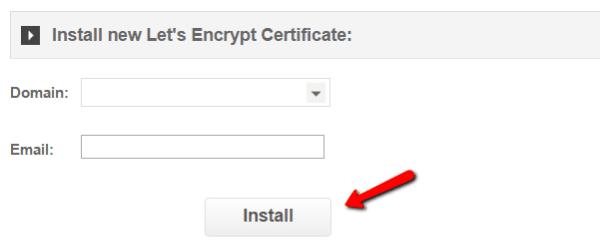 Installing Let's Encrypt