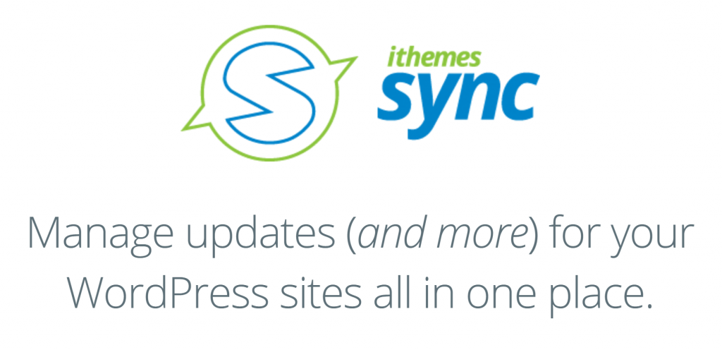 The iThemes Sync homepage.
