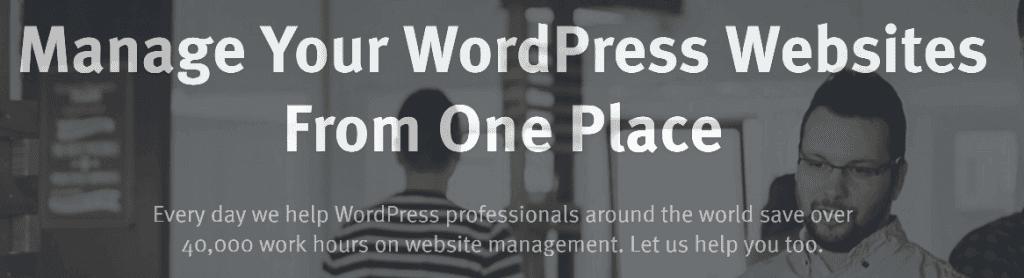 The ManageWP homepage.