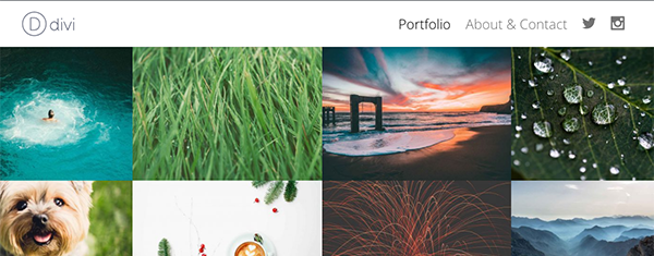How to Create a Minimal Portfolio Homepage with Divi