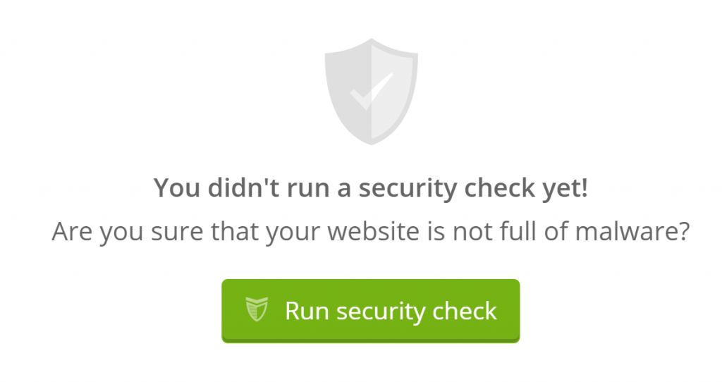 The option to run a security check.