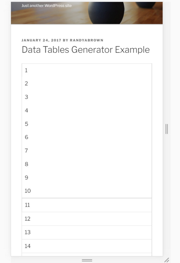 How to Create Responsive Tables in WordPress | Elegant