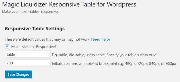 Magic Liquidizer doesnu0027t build tables. Instead it works with all HTML tables and lets you set the breakpoint where your tables changes formats.  sc 1 st  Elegant Themes & How to Create Responsive Tables in WordPress | Elegant Themes Blog