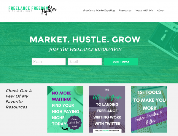 Freelance Freedom Fighter Using the Divi Theme