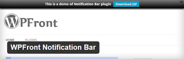 WPFront Hello Bar