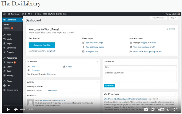 Add screencasts to WordPress