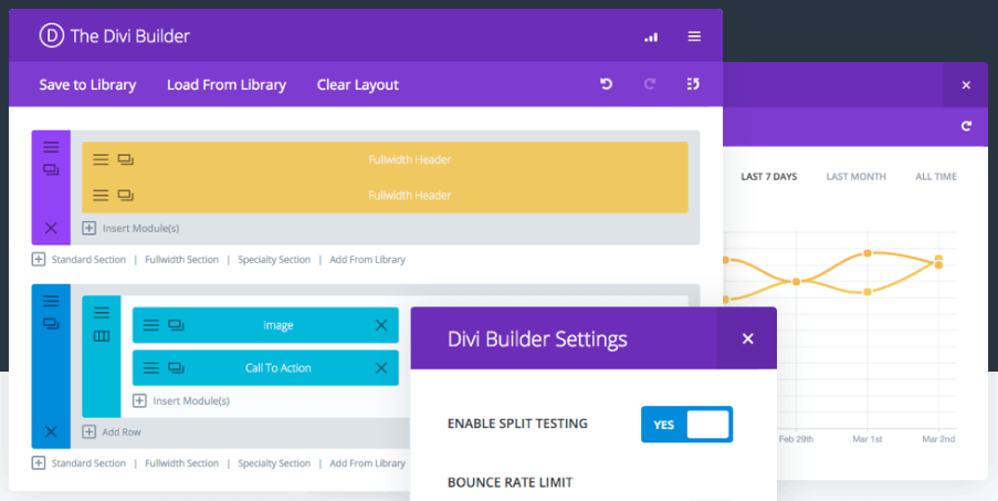 The Divi Leads homepage showing screenshots of it in action