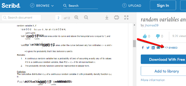 Scribd WordPress PDF