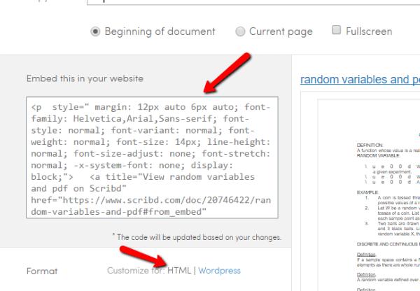 Scribd HTML