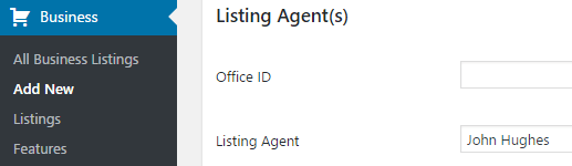 The option to list agents.
