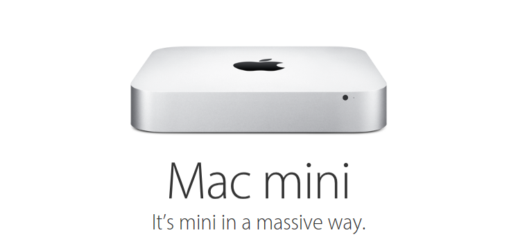 Apple's Mac Mini promotional page