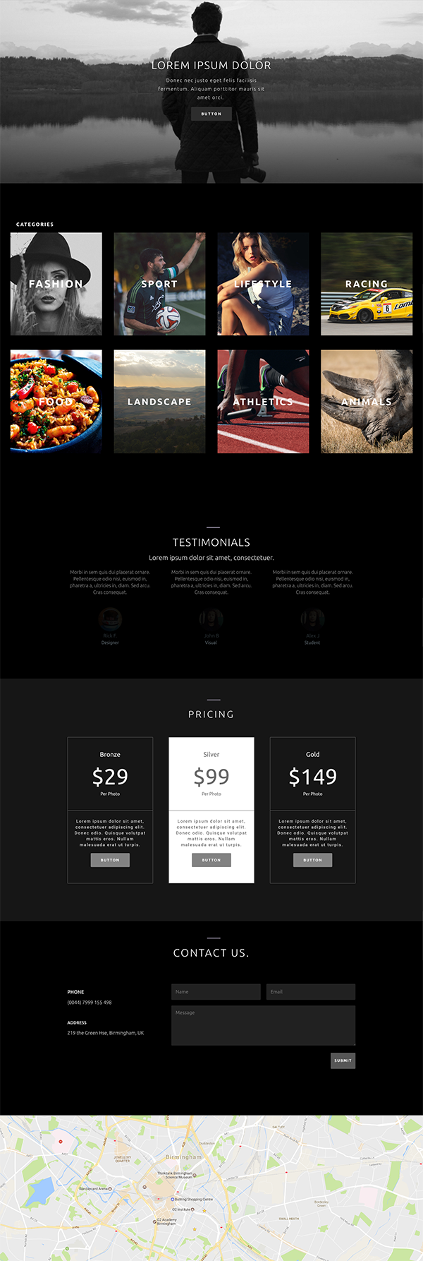 Download this free photography homepage divi layout pack - Divi elegant theme ...