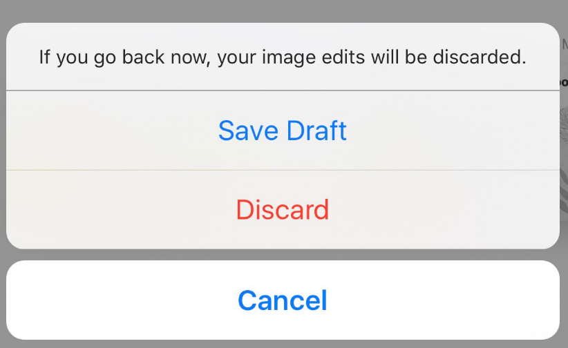 Saving drafts on Instagram