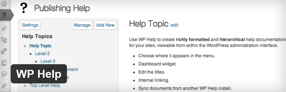 The WP Help title image from WordPress.org