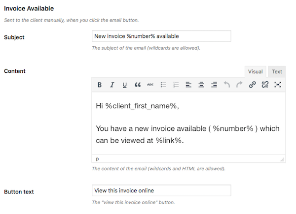 How To Create Manage Your Client Invoices Directly In WordPress - How to email an invoice