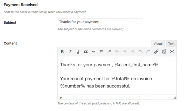 How To Create Manage Your Client Invoices Directly In WordPress - Invoice email to client
