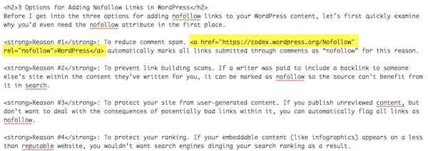 Nofollow HTML