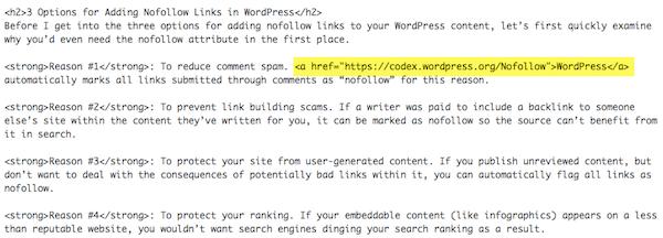 Standard HTML Link