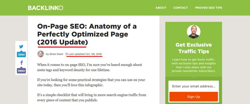 advanced seo tactics: update older content