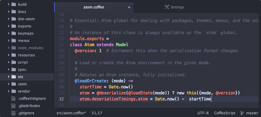The Atom text editor.