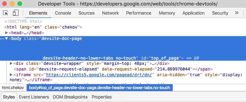 The Chrome DevTools.