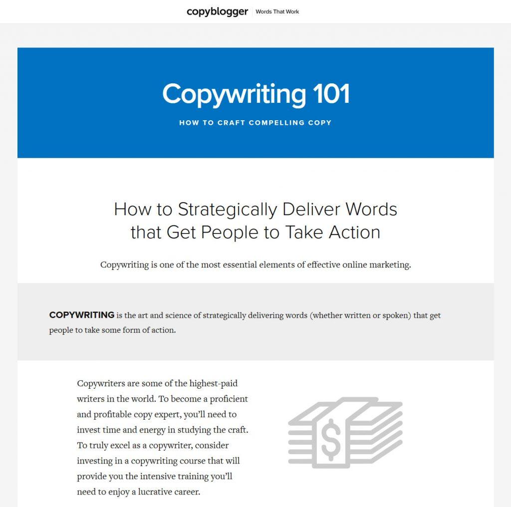 copyblogger landing page