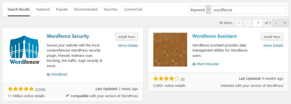 install wordfence
