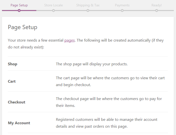 The Page Setup Page