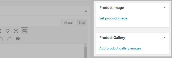 Product image sections