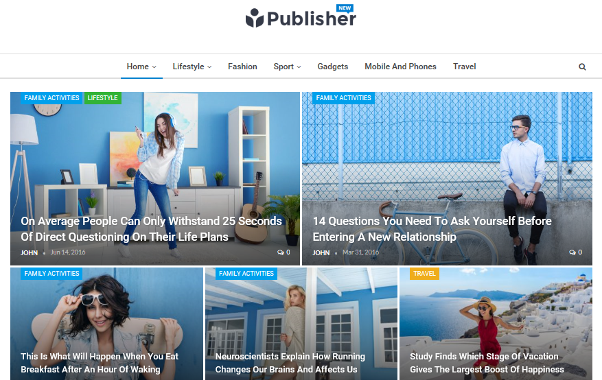 Publisher demo homepage