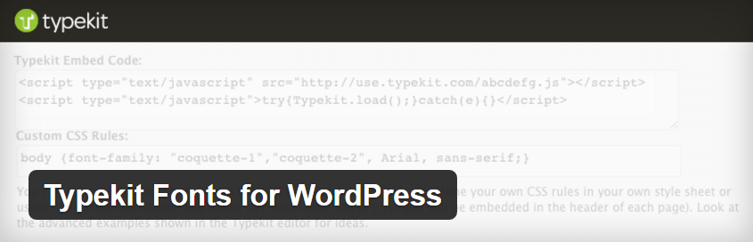 The Typekit Fonts to WordPress plugin.