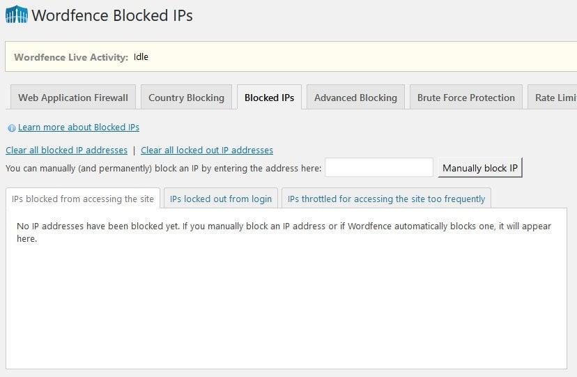 wordfence blocked ips