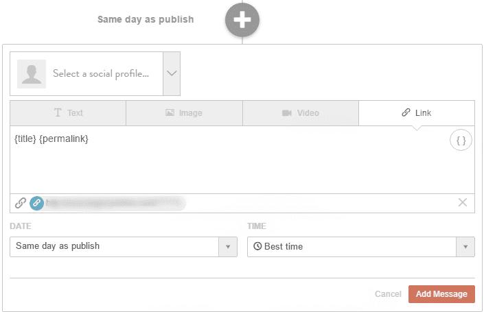 CoSchedule WordPress social media post