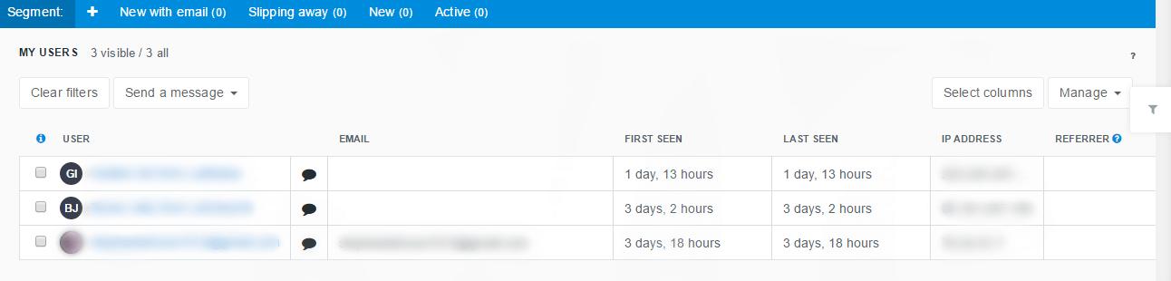 UserEngage dashboard