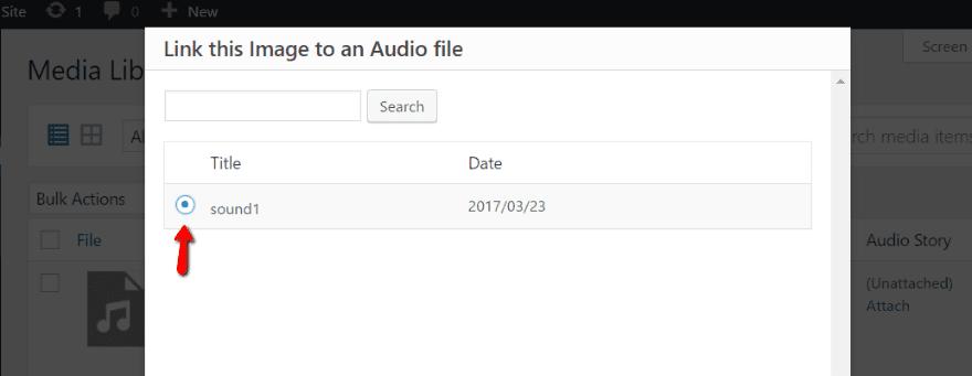 Link audio file