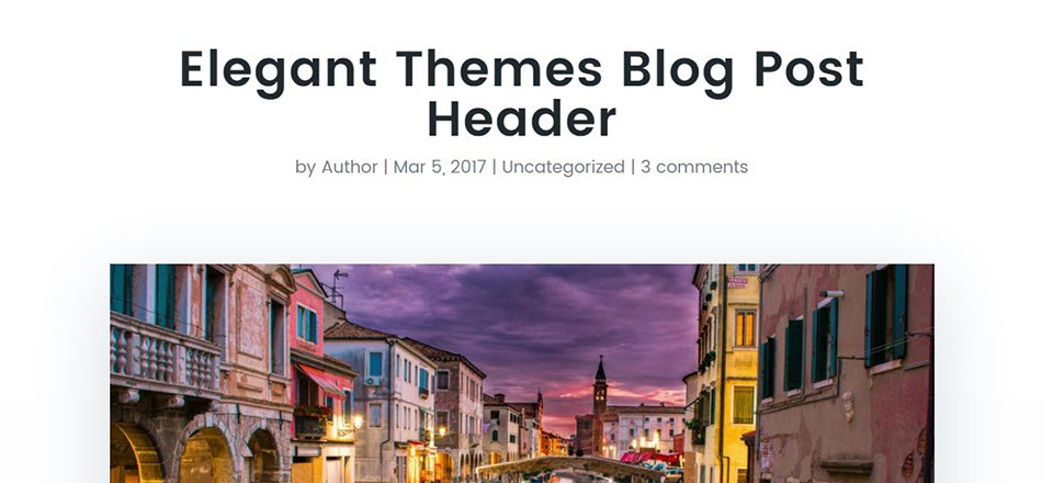 How to Style Divi's Single Post to Match the New Elegant Themes Post Design