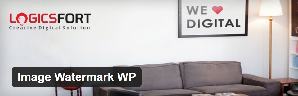 The Image Watermark WP plugin.