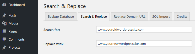 Replacing an URL throughout your site.
