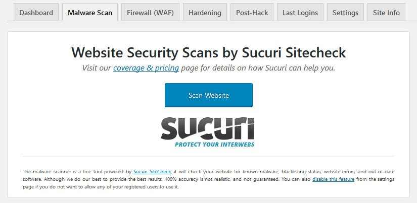sucuri review malware scanner