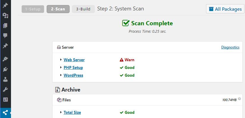 Duplicator's scanning process.