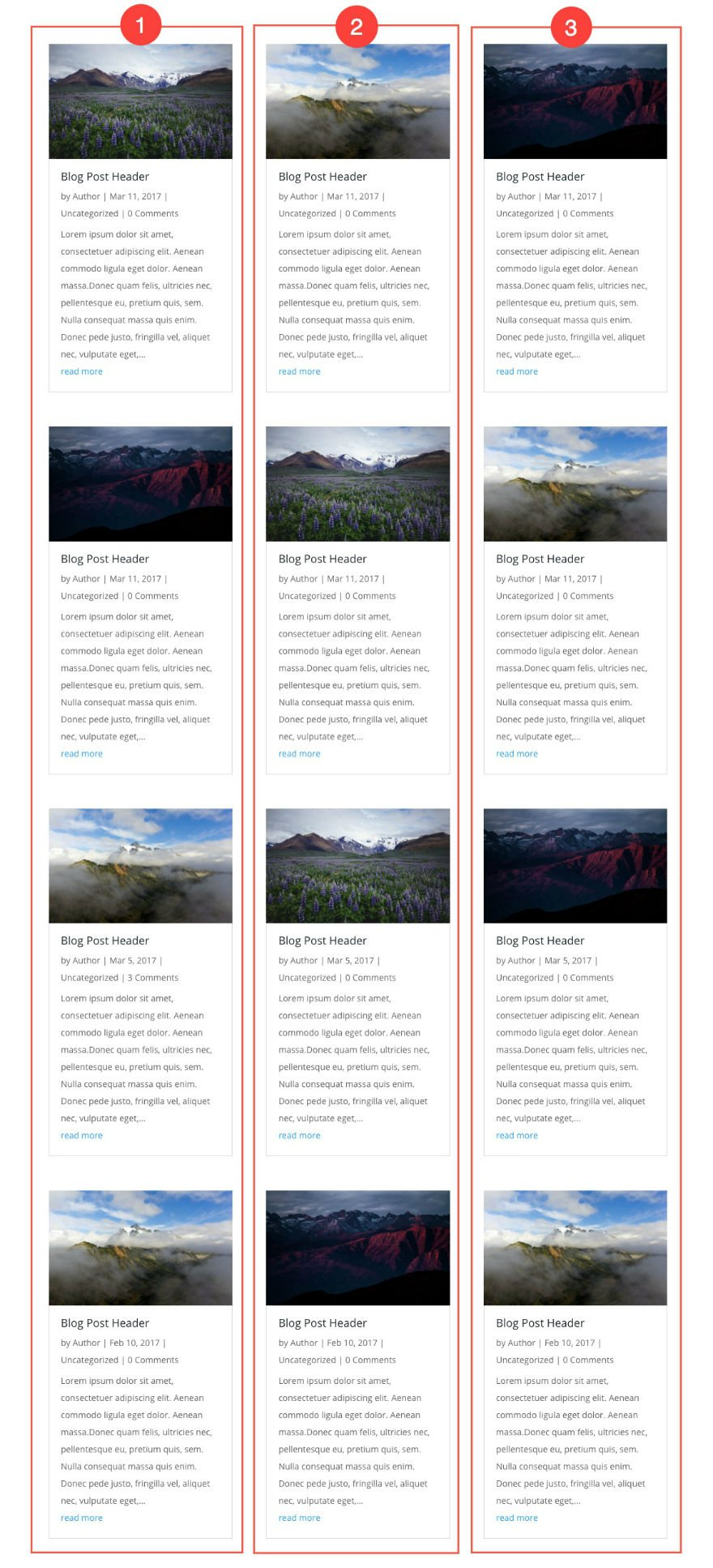 How To Style Your Divi Blog Module Grid Cards With 4 Examples