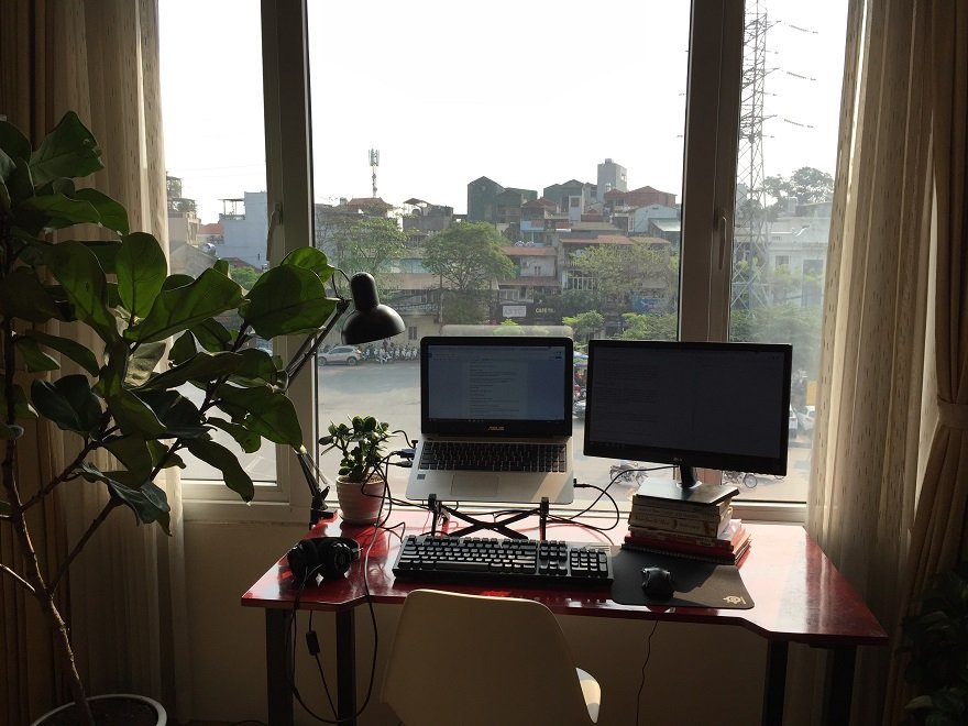 Colin's workspace