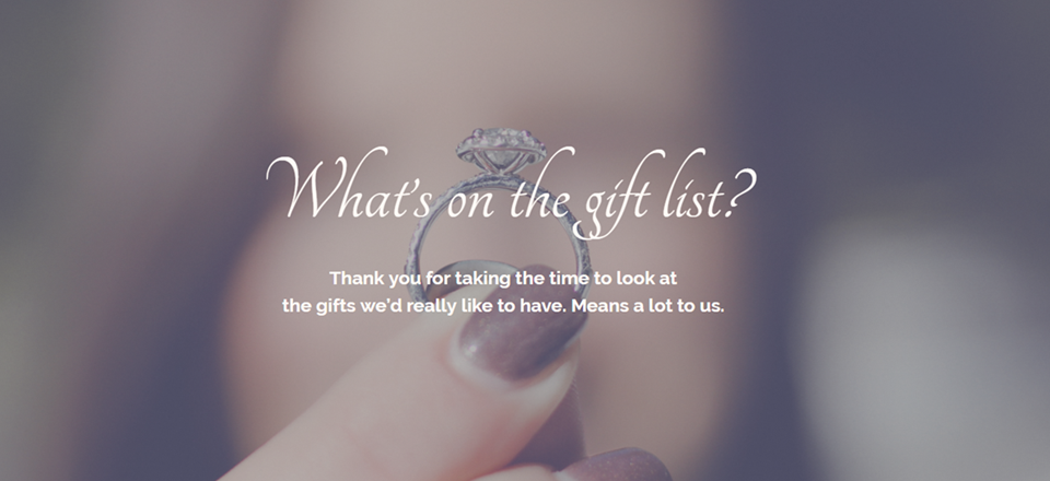 How to Create a Gift List Page for Your Wedding with Divi