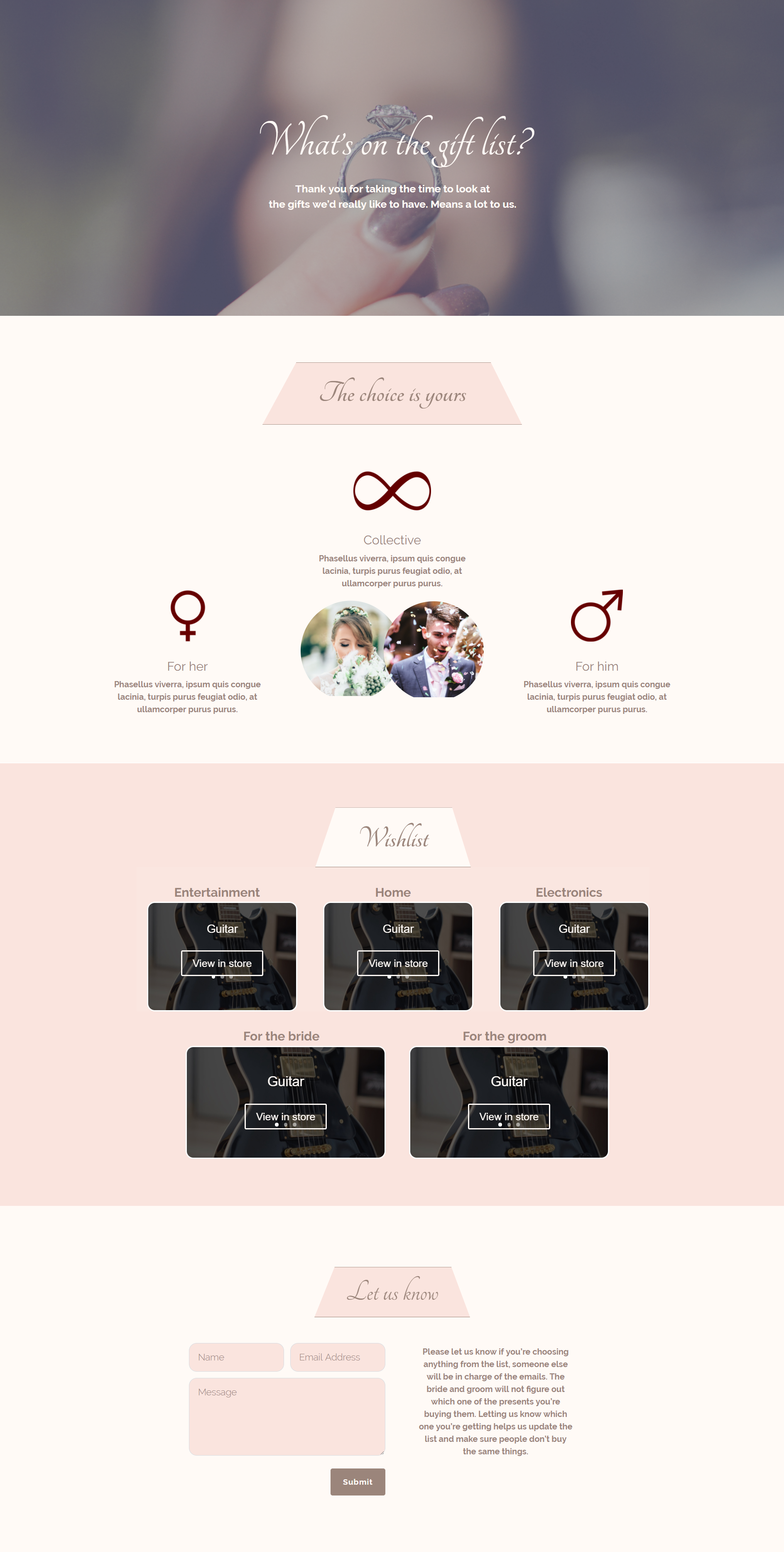 How To Create A Gift List Page For Your Wedding With Divi Elegant